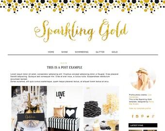 Blogger Blog design. Blogger template. Responsive blog design. Premade theme.
