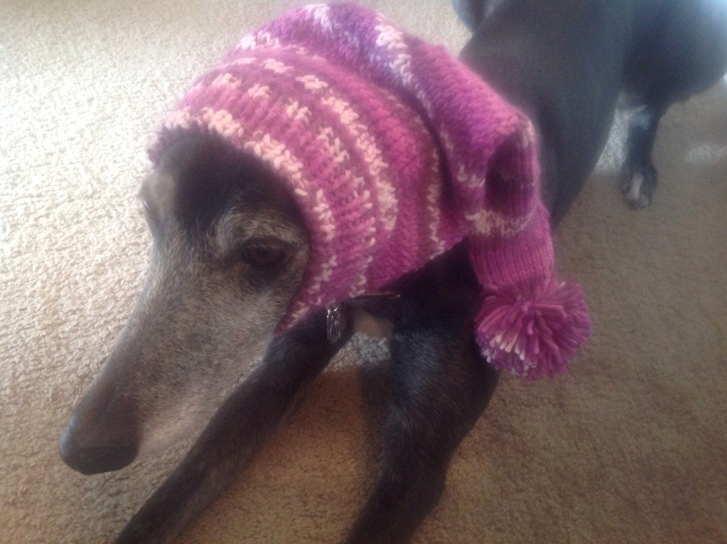 Pointed hat with snood for greyhound or other large sighthound pointed hat with snood for greyhound or other large sighthound fair isle pattern purple power bankloansurffo Images