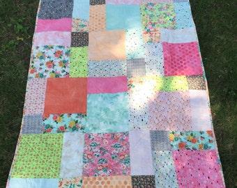 Gorgeous Happy Colors Child/Lap Quilt