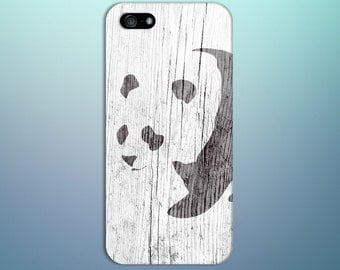 Black x White Panda Bear Wood Design Case for iPhone 6 6 Plus iPhone 7  Samsung Galaxy s8 edge s6 and Note 5  S8 Plus Phone Case