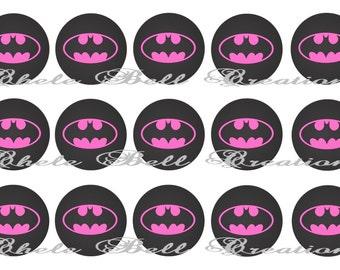 Pink Batman 1inch Bottle Cap Images