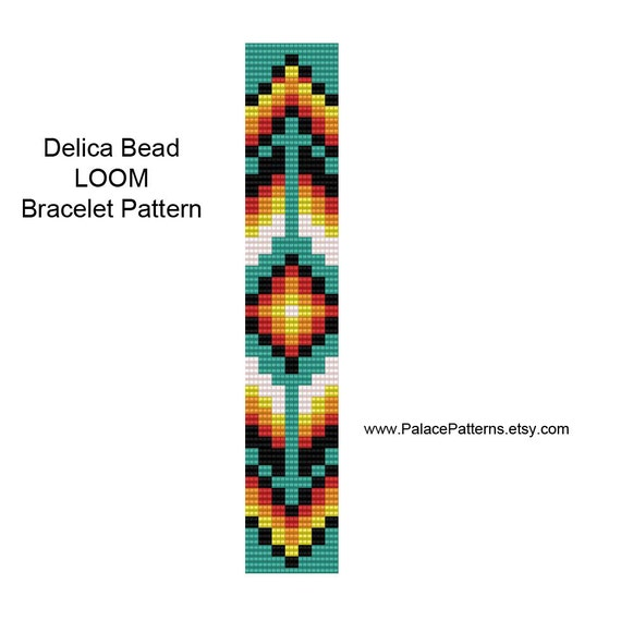 tribal square stitch bracelet pattern by palacepatterns on