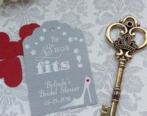 Cinderella Bridal Shower Tags, Fairy Tale Bridal Tags, Personalized Bridal Shower Tags. Custom Bridal Tags. Set of 25 to 300 pieces