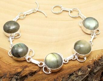 Labradorite Bracelet, Silver Labradorite Bracelet, Crystal Bracelet, Gemstone Bracelet, Stone Bracelet, Boho Bracelet