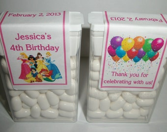 28 DISNEY PRINCESS Birthday Party Favors Tic Tac Labels ~ Free Shipping