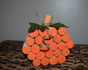 Cork Pumpkin Decor