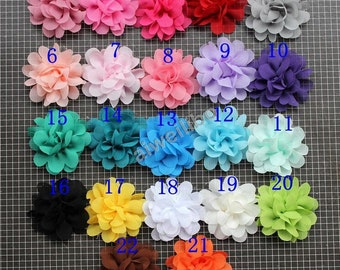 Chiffon Flower ,Flower Accessory ,Headband Flower ,Fabric Flower