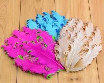 Wholesale Curly Feathers For Girls Headband DIY Hair Accessories
