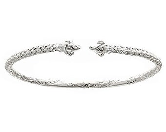 Pointy Ends .925 Sterling Silver West Indian Bangle