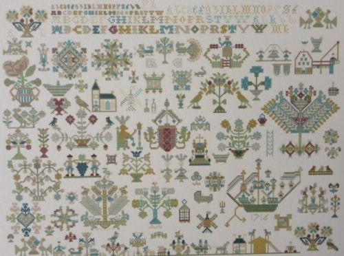 Cross stitch chart exceptional dutch antique sampler pattern
