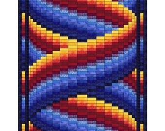 Curlz Bargello Quilt Pattern