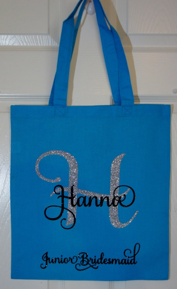 Custom Bridal Party Gift Bags - Junior Bridesmaid Shown - Customize ...