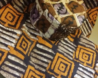 African Sun Gyenyame Adrinkra Print Hat