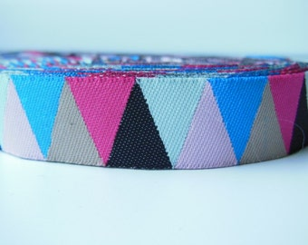 Colorful Triangle Woven Jacquard Ribbon 5/8inch 10yards