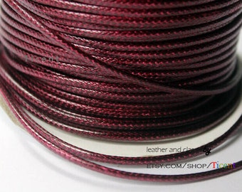 Sale 100 Yards/Roll 2mm Wine Wax Cords, Environmental Protection Wax Cords WS233