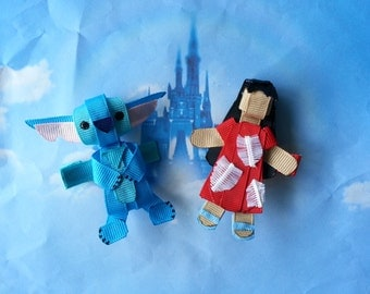 Lilo and Stitch Inspired Sculpture Hair Clips