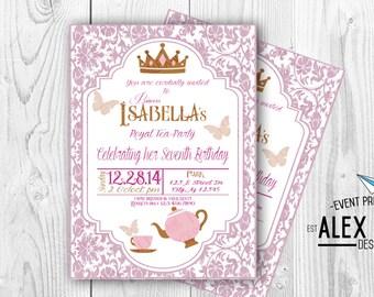 Royal Tea Party Invitation -DIY Printable