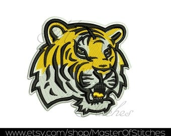 lsu tigers design for embroidery machines 4x4 - Instant Download