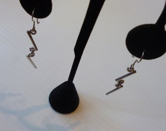 Taxco Silver Earrings 925 Pierced Sterling Dangle Modernist Style Made in Mexico