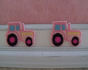 Pink Tractors Felties , Girly Tractor Always Precut