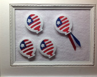 Patriotic Flag Balloon Feltie