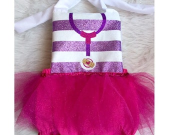 Doctor inspired romper with tutu