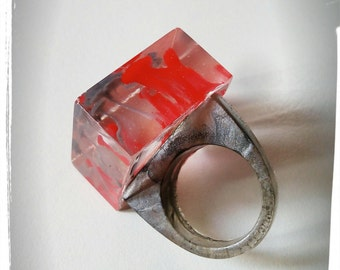 resin ring hand made