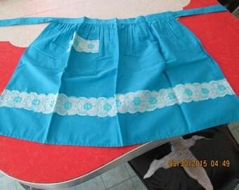 Vintage Blue Half Apron
