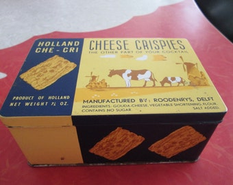 Vintage Cheese Crispies of Holland Tin