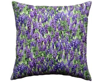 Lavender Floral Cotton Cushion / Pillow