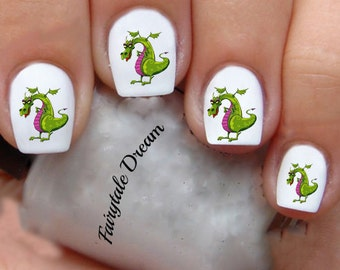 1139 Puff The Magic Dragon 20 Water Slide Nail Art Transfer Decals stickers