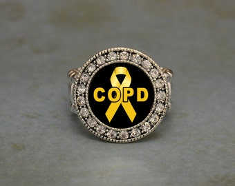 COPD Awareness Stretchy Ring