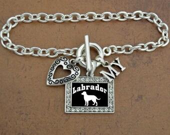Heart My Labrador Bracelet