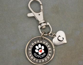 Custom Initial Gotcha Pet Adoption Keychain