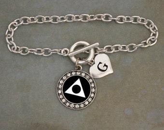 Custom Initial Al-Anon Bracelet