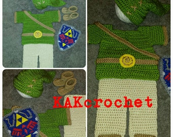 Crochet Link- Elf Costume, Zelda inspired baby, Halloween costumes, baby dress up