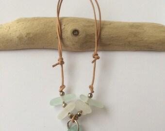 Beautiful, hand made, Scottish Sea Glass  bracelet B3.5.15.4