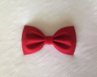 Red Bow Hair Clip