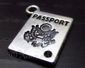 10PCs Passport Wholesale Silver Plated Charm Pendants C6601