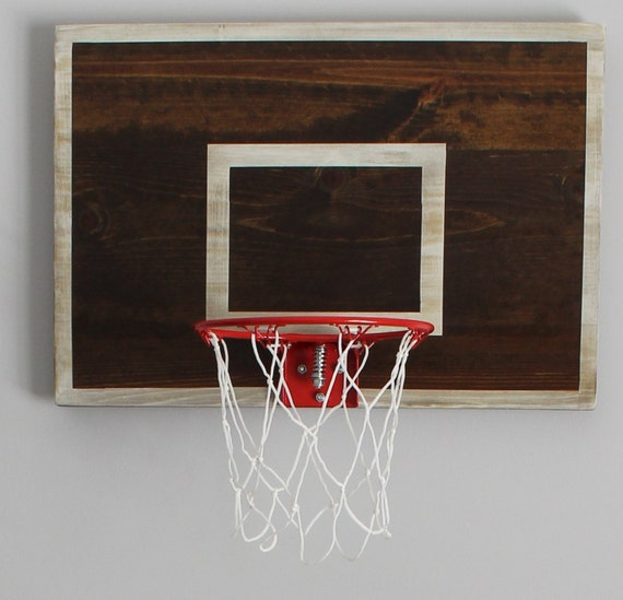 Vintage designed basketball goal basketball by thepaulineffect for Vintage basketball wall art