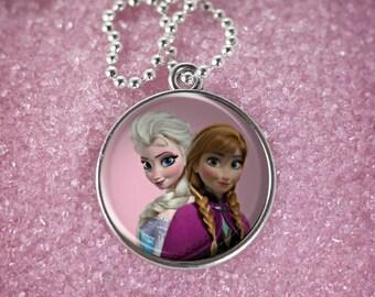 Princess Series Silver Round Necklace Bracelet V23