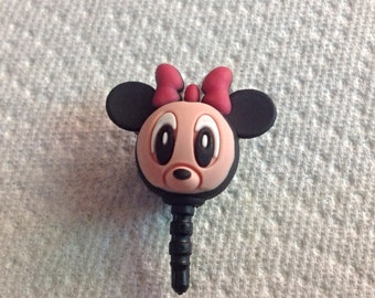 Minnie Mouse Cell Phone Dust Plug. Phone bling/accessory.  Cell phone dust plug.