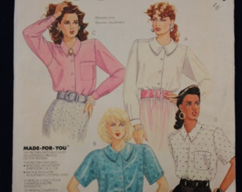 Sewing Pattern McCall's 3467 for a Woman's Blouse in Size 16