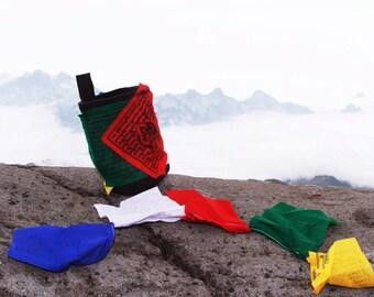 Prayer Flag Bag - chalk bag