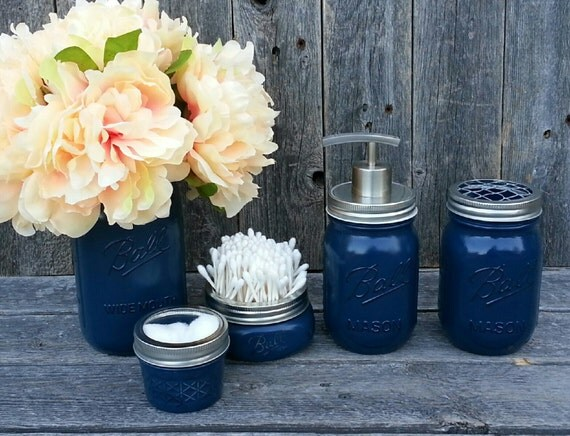 mason jar bathroom kit ball mason jars farmhouse decor