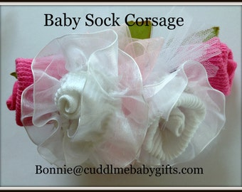 Baby Shower Baby Girl Baby Lace Baby Sock Corsage