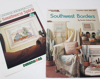 Southwest Borders and Southwest Spirit Counted Cross Stitch Patterns, PAT110
