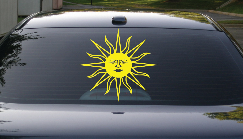 Sun Decal Sun Die Cut Vinyl Car Decal Laptop Decal Yeti - Custom die cut vinyl car decals