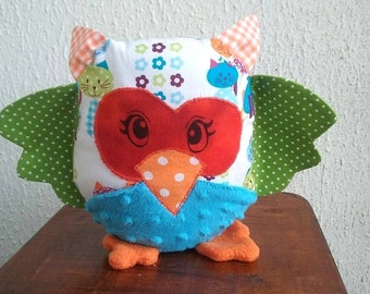 Blue Green OWL plush toy