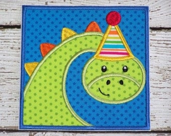 Boys Birthday Iron On Or Sew On Applique Patch - Dinosaur